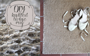 DIY knitted twine rug