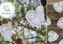 DIY no sew bunting – doily hearts