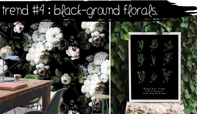 TREND #4: Black-ground Florals