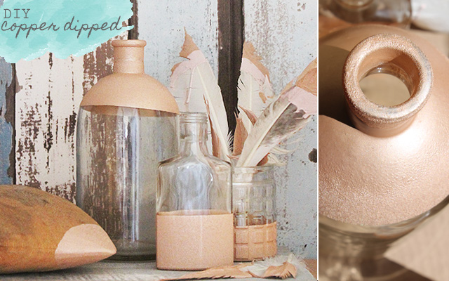 DIY copper dipped collection