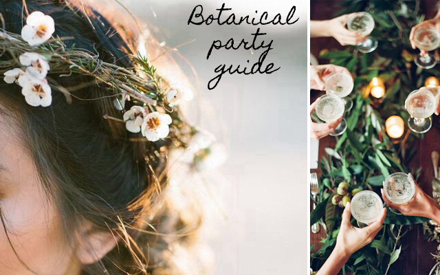 Botanical inspired party ideas