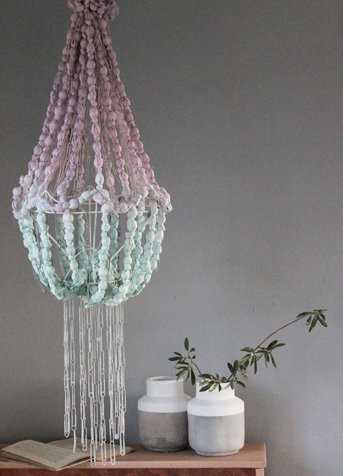 How to make a colour-dipped beaded chandelier