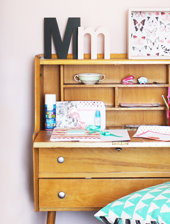 DIY Tween study corner with Bostik