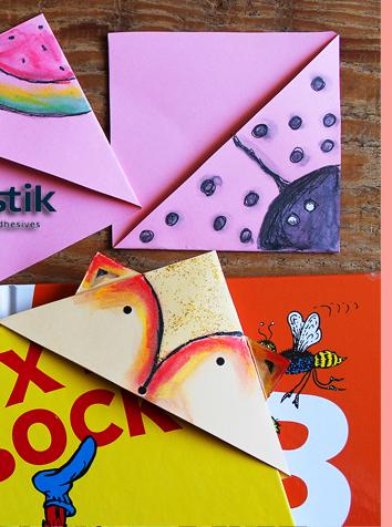 DIY Corner Bookmarks with BOSTIK