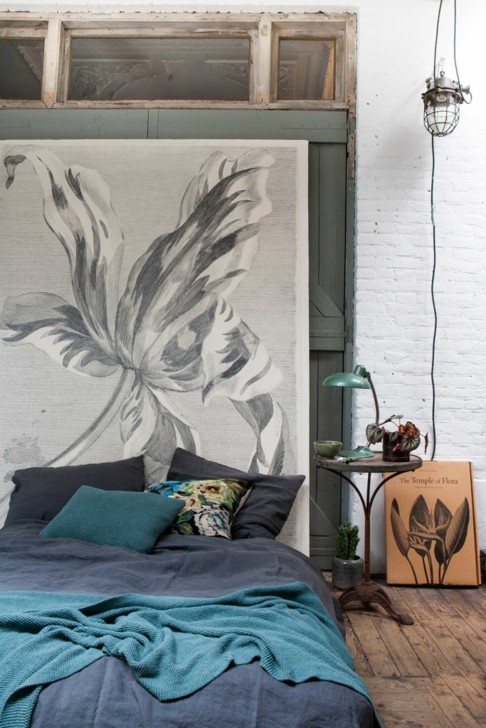 slaapkamer-bloemenprint