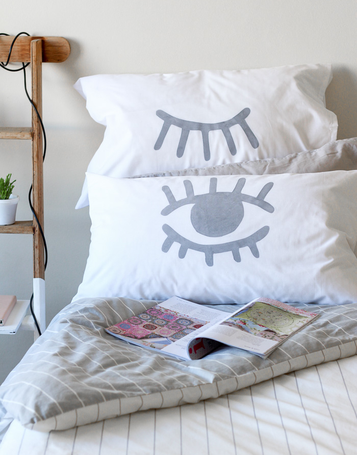 Cozy Winter DIY: Stencilled Eye Pillowcase