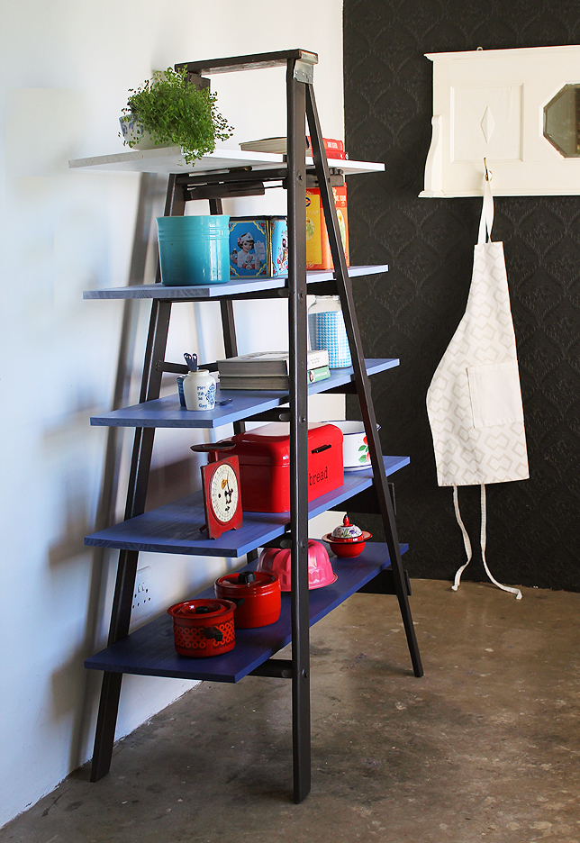 Easy DIY: from lowly ladder to super storage