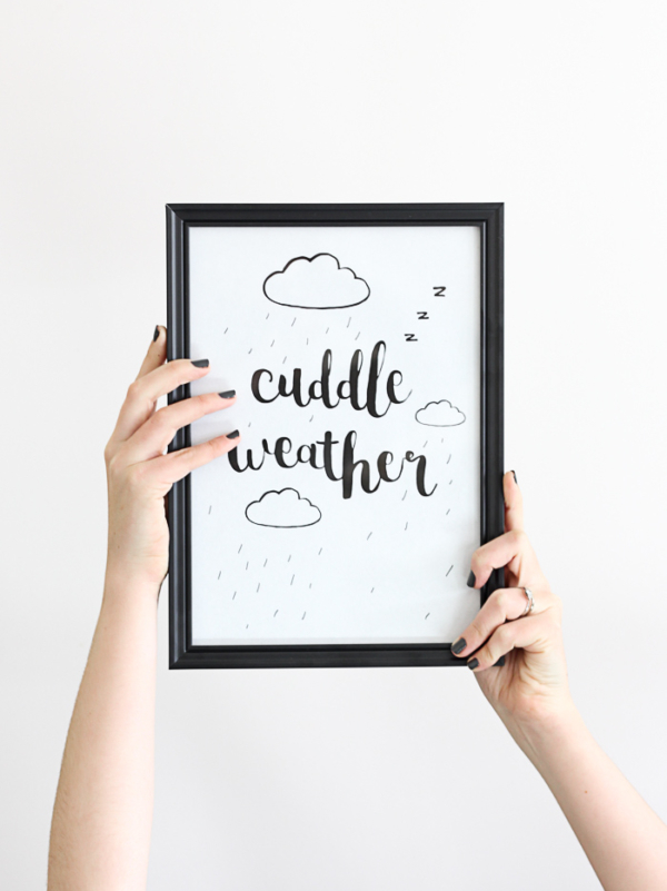 Free Printable: Winter Cuddle Weather
