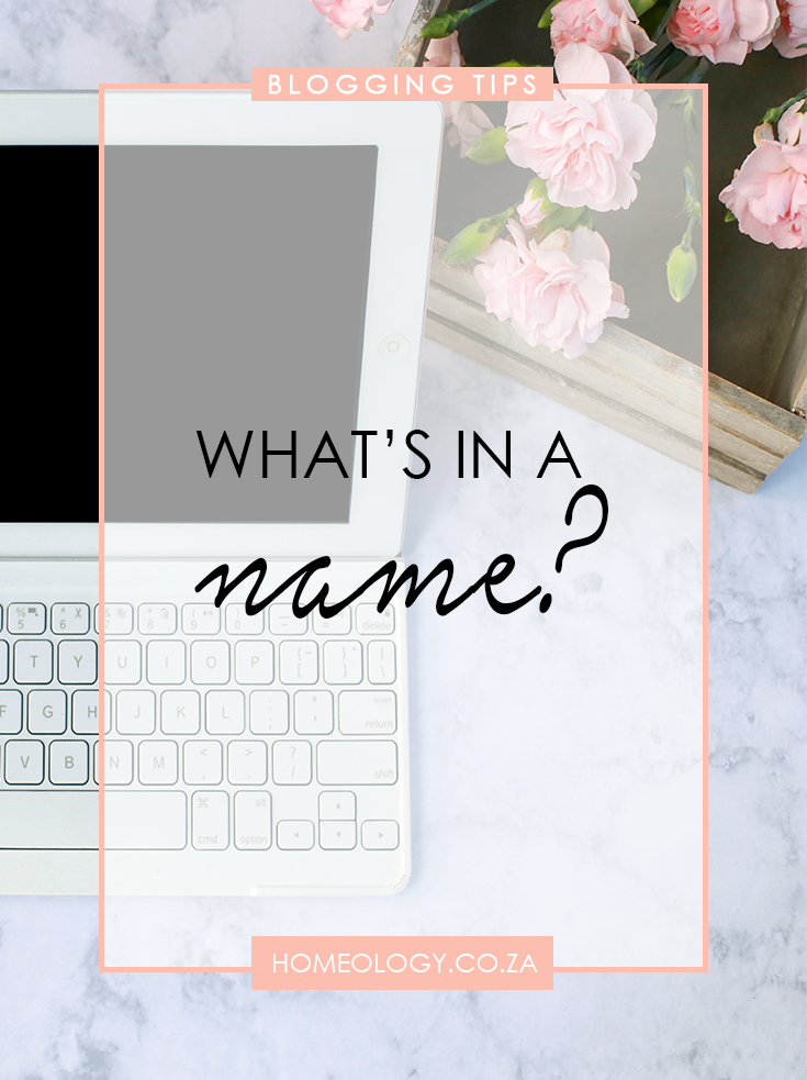 how to choose a blog name