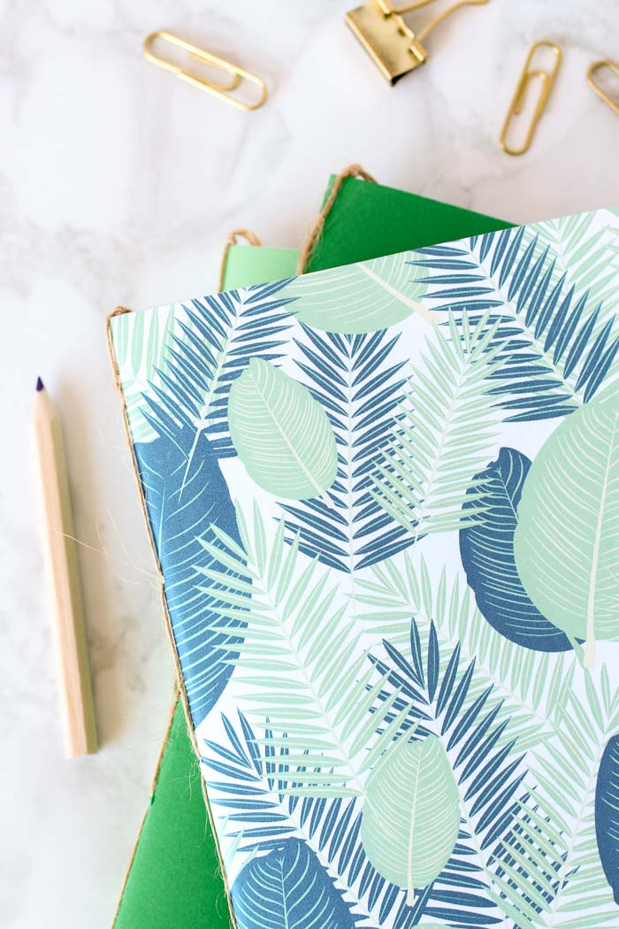 Make gorgeous bound DIY notebooks using materials that you already have at home.