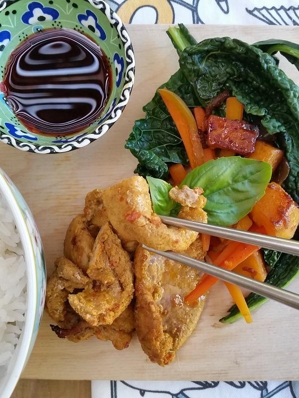 tandoori pork stir fry