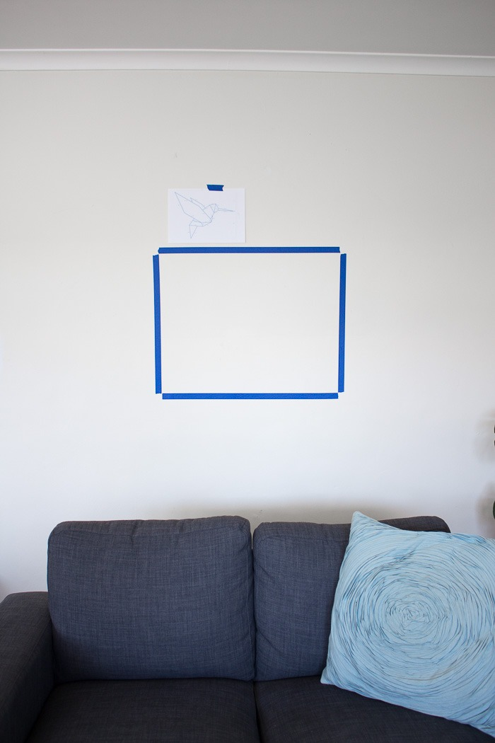 Washi Tape Art for your Rental Home