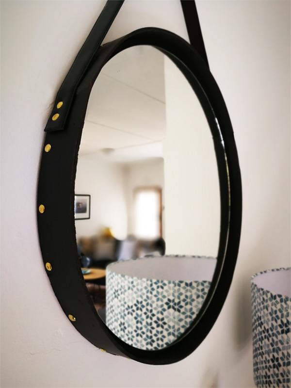 round studded mirror DIY