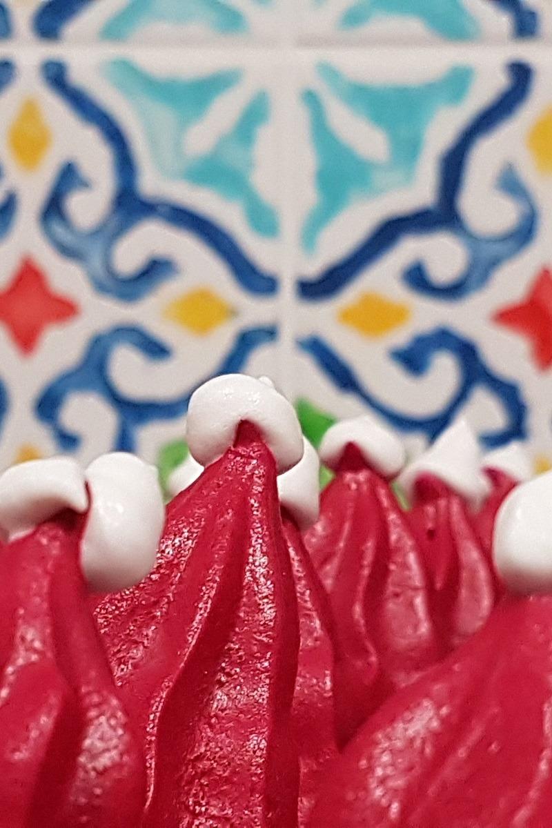 meringue santa hats