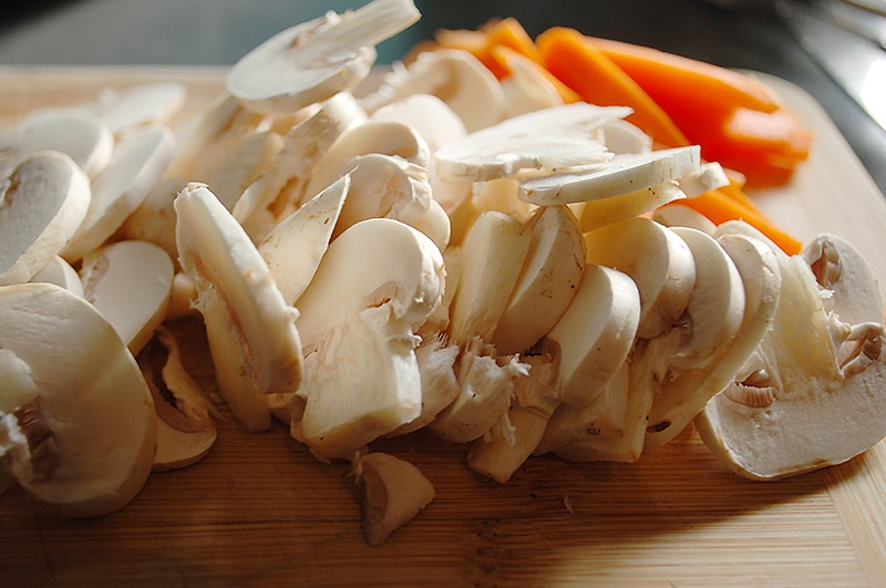chopped mushroom for healthy soup