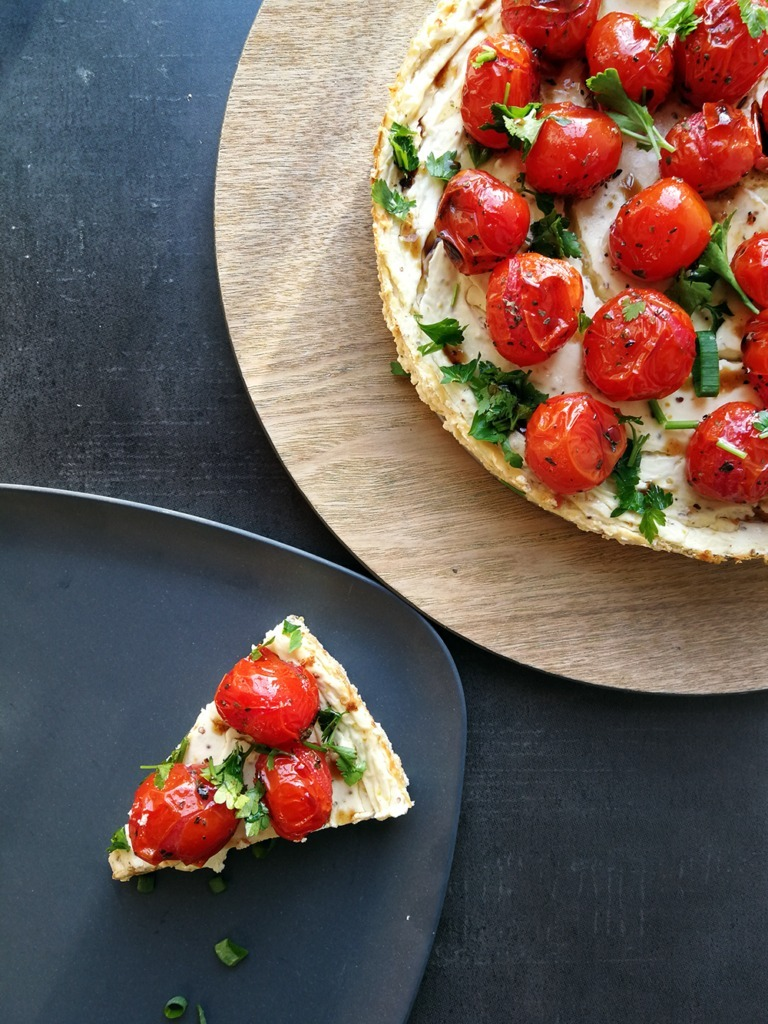 Baked Savoury Cheesecake with Cherry Tomatoes and Balsamic Vinegar - Homeology