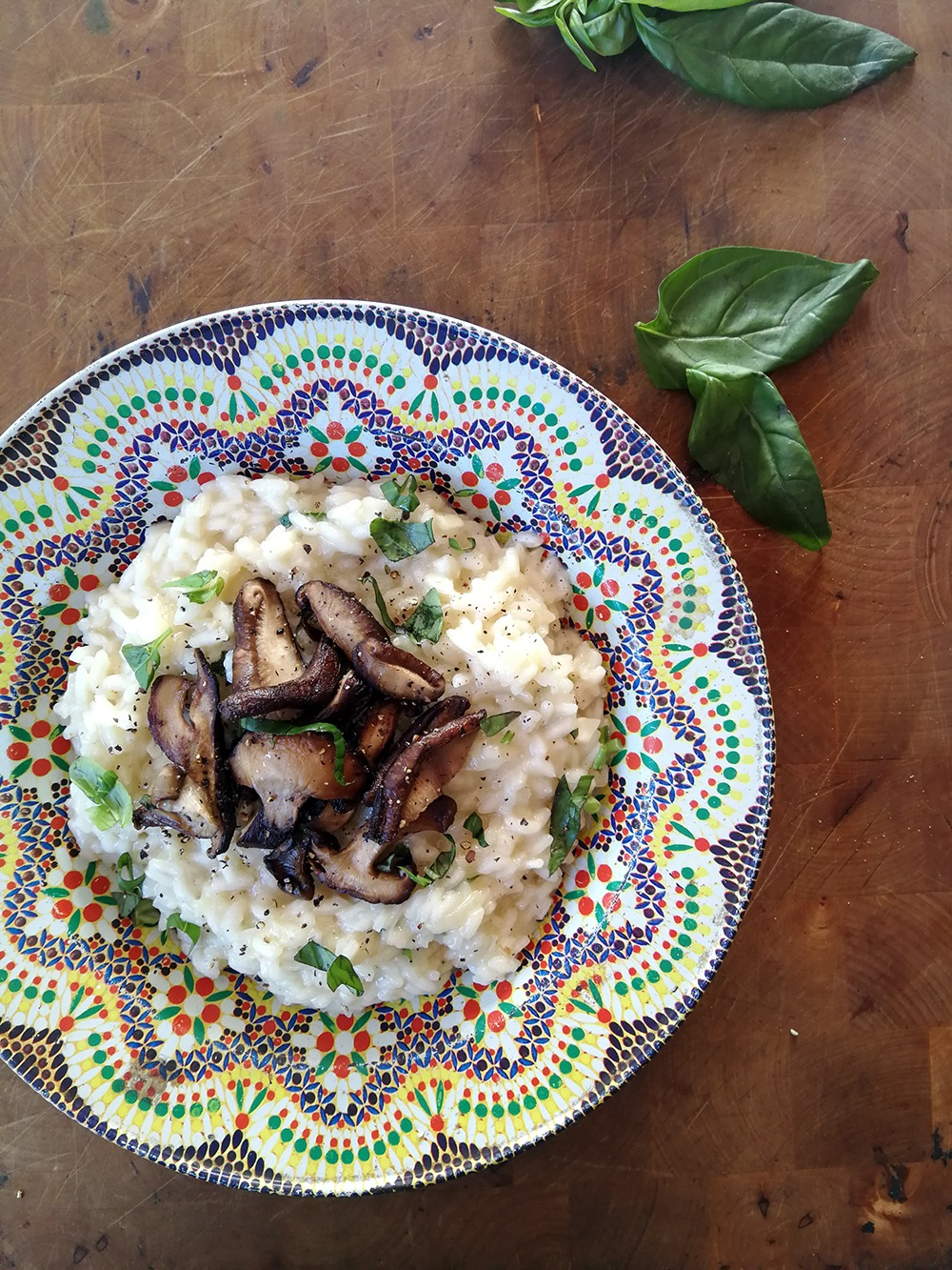 Jamie Oliver's Grilled Wild Mushroom Risotto with Basil