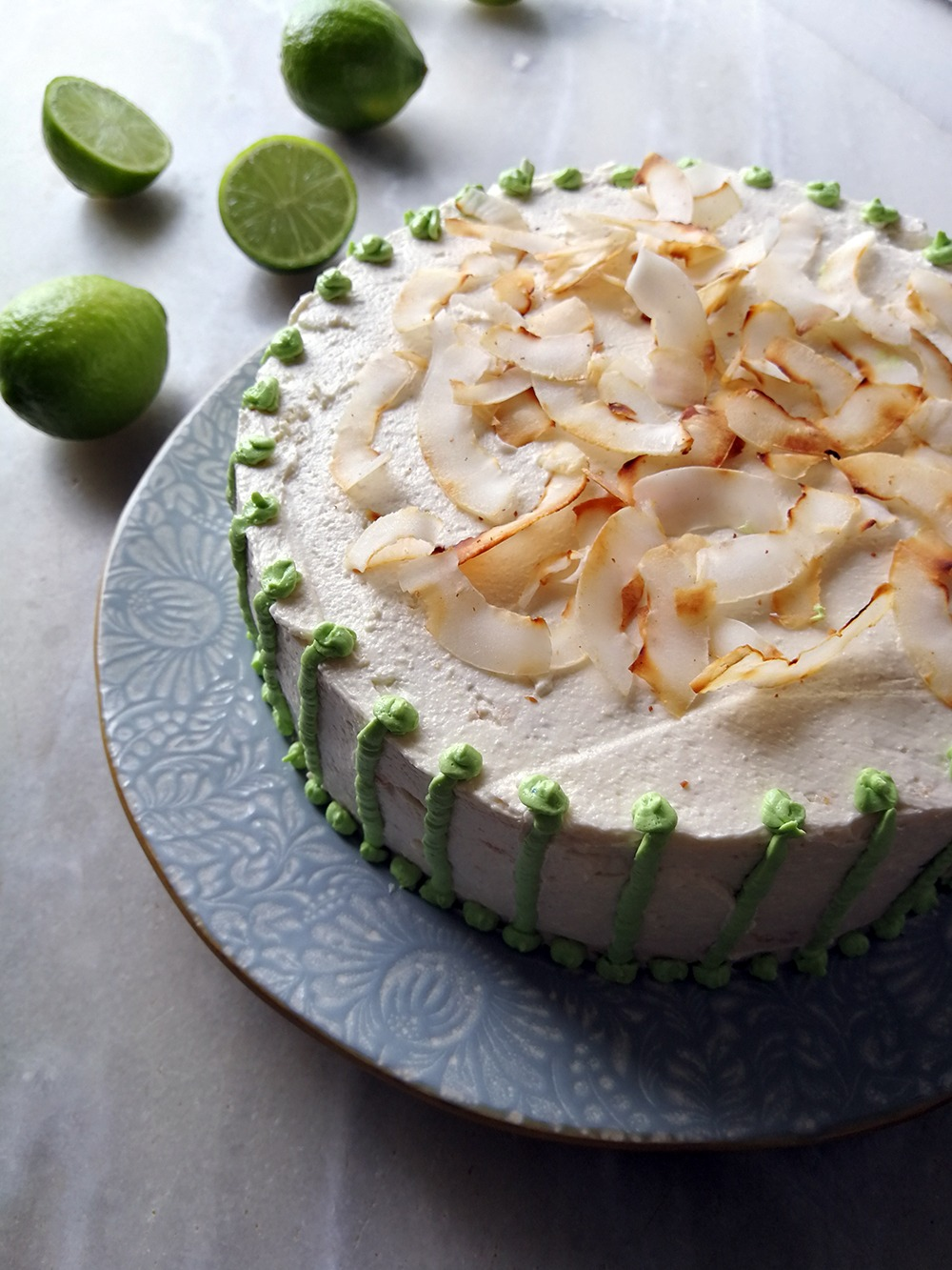 Festively Tropical Coconut and Lime Cake