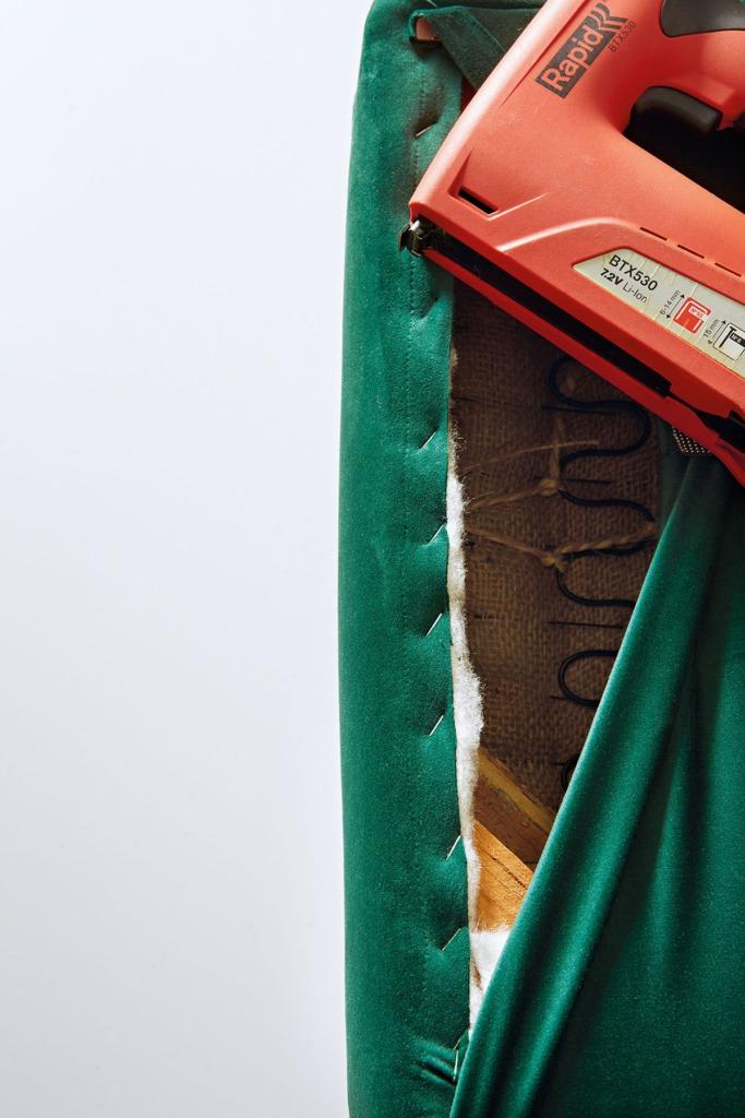 How to Repair a Emerald Green Velvet Sofa