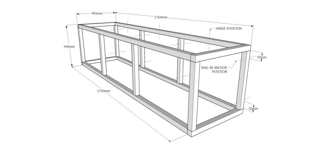 outdoor storage bench building plans
